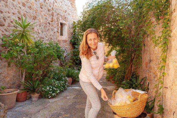 Display of Mallorcan lemons for sale